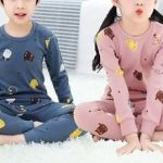 Pijama infantil de manga larga con patrones