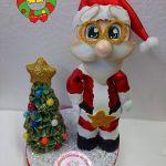 Fofucho Papá Noel con moldes gratis