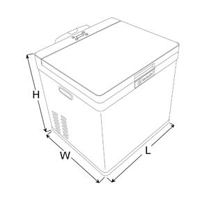 MarinAire 18 QT Portable Refrigerator Freezer 12/24VDC
