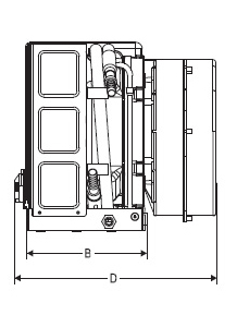 11000 Btu, 115V, Self Contained Marine Air Conditioner