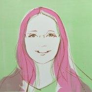 Alice. Commission portrait in monotype technique. Portrait artist Marina Kim