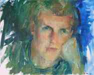 Portrait of Daniel Wood. Portrait commission painting by Marina Kim
