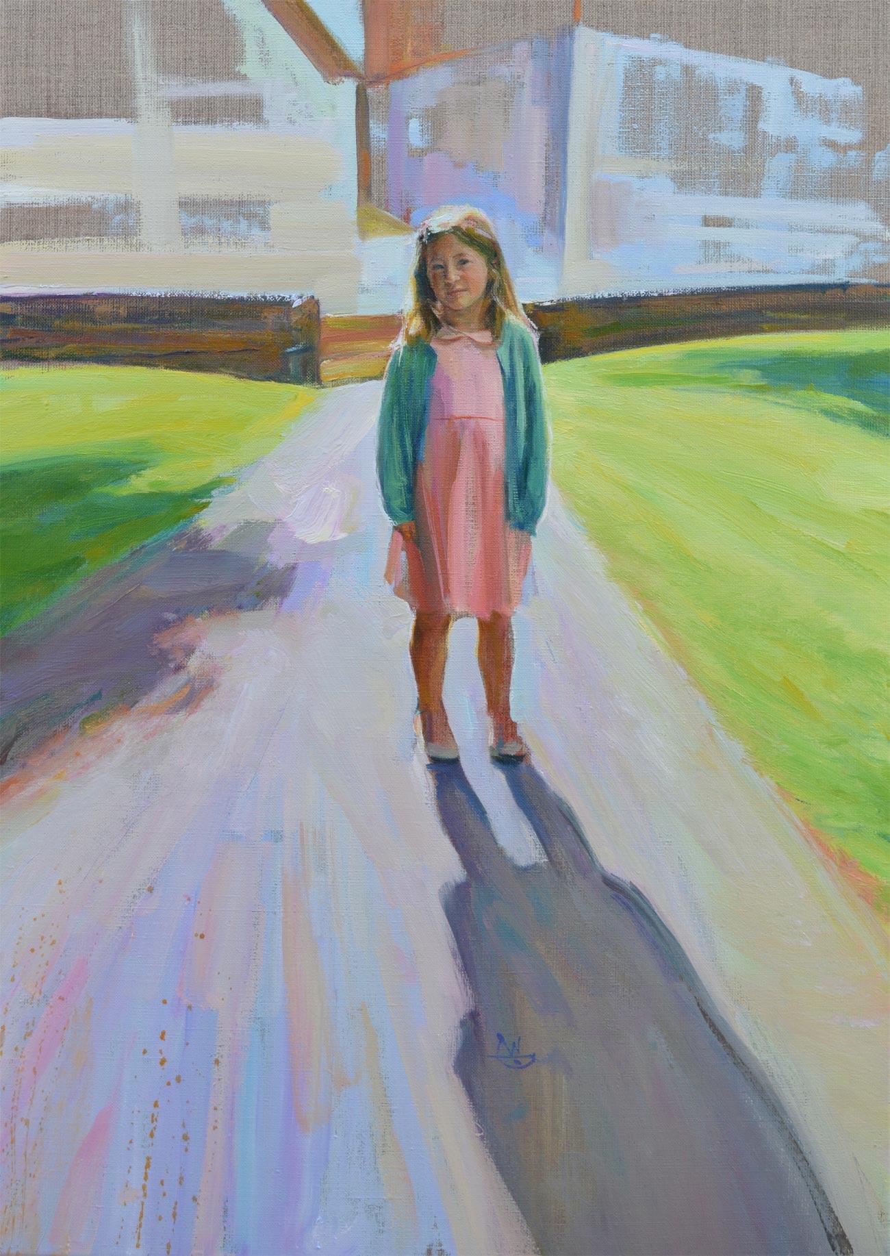 Portrait of Emily. Portrait commission portfolio of the British artist Marina Kim