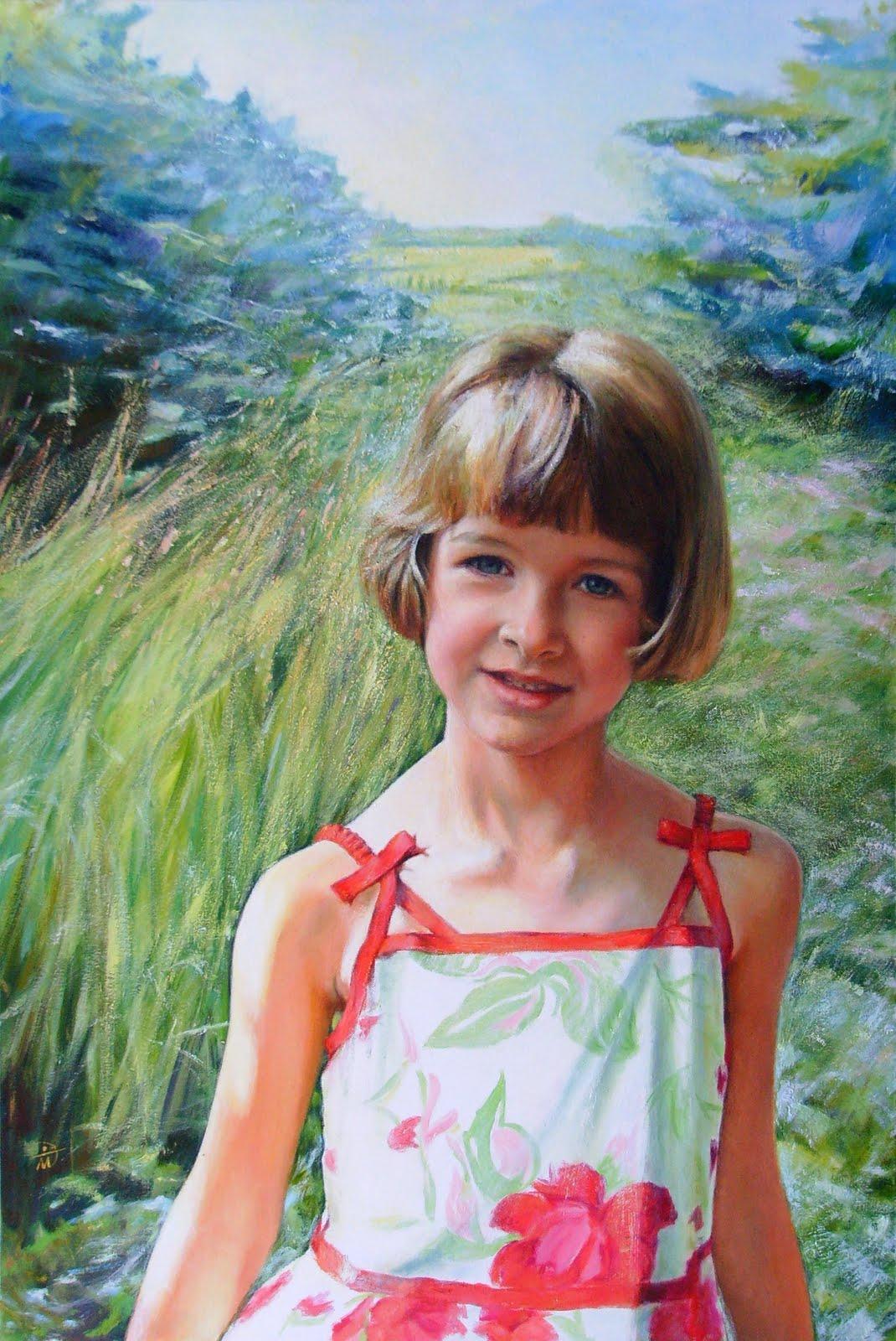Portrait of Grace Castle. Commission portrait by Marina Kim
