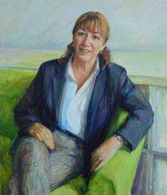 Portrait of Justina Gay. Portrait commission portfolio of the British artist Marina Kim