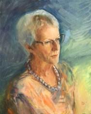 Portrait of Elizabeth Bamiji. Commission a portrait by British artist Marina Kim
