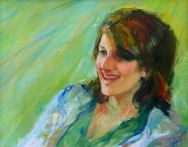 Portrait of Lorna Jones. Commission portrait by Marina Kim