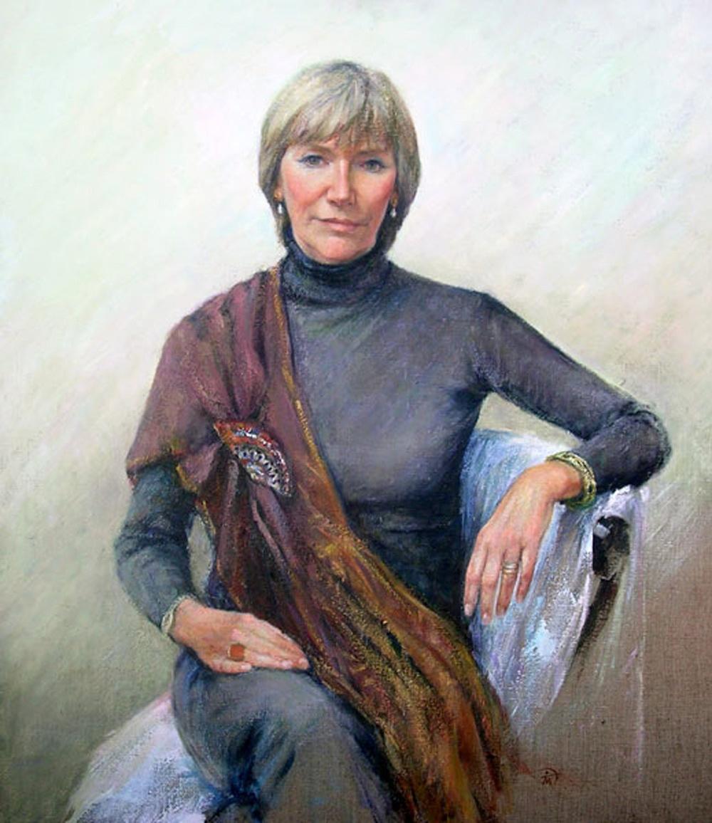 Portrait of Sarah Jempson. Commission portrait by Marina Kim