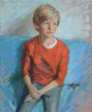 Portrait of Seb Elliott. Portrait commission by artist Marina Kim