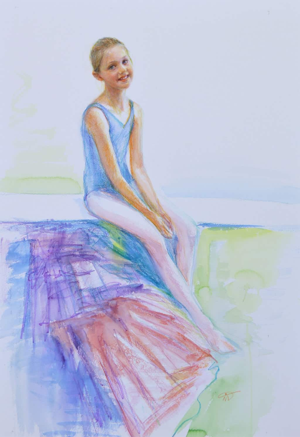 Ruby. Watercolour pencils on paper. Collection of John Gurney