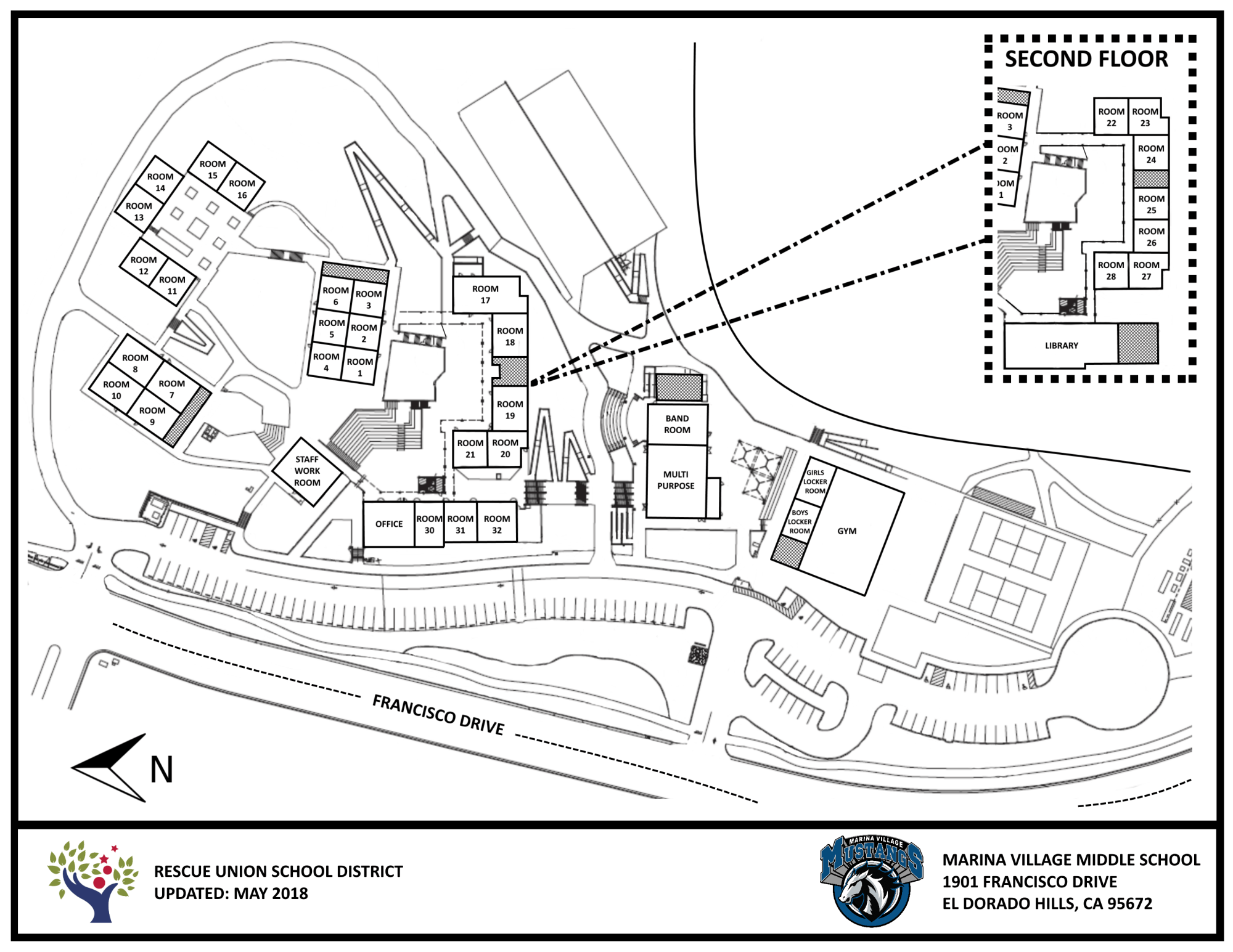 hight resolution of map of campus
