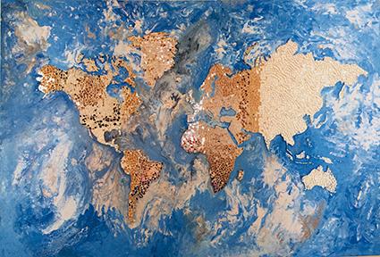 """""""Matrix World"""" quadro con mosaico di Daniela Musone Sounvasart"""