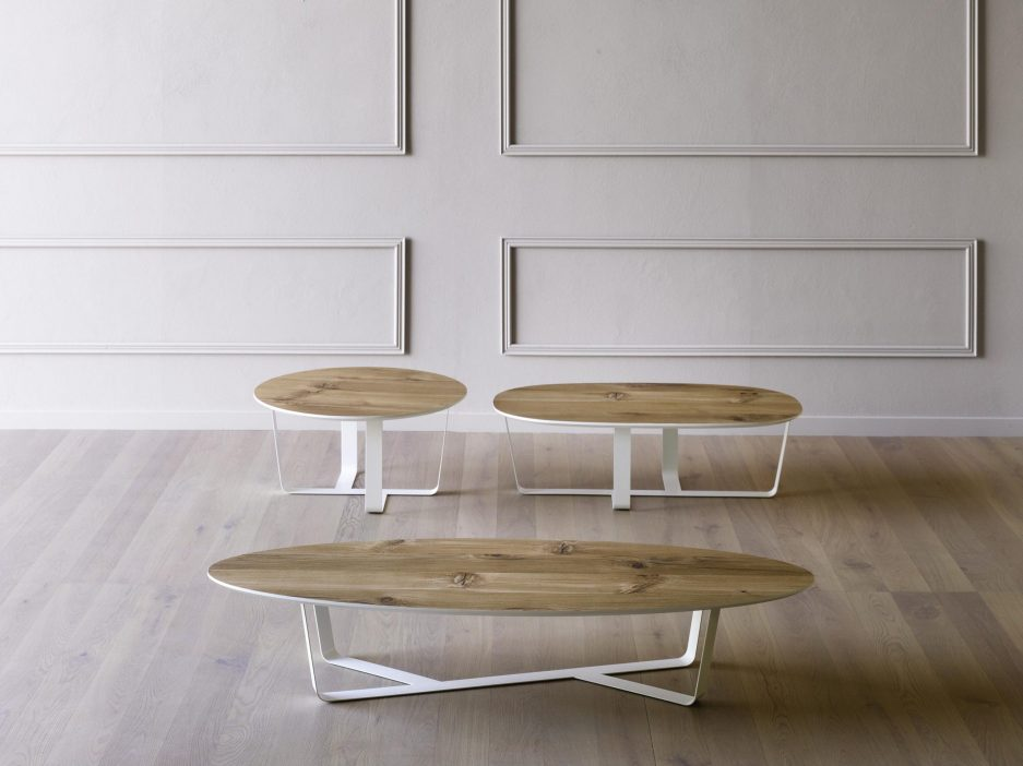 bino large oval table miniforms in coffee tables