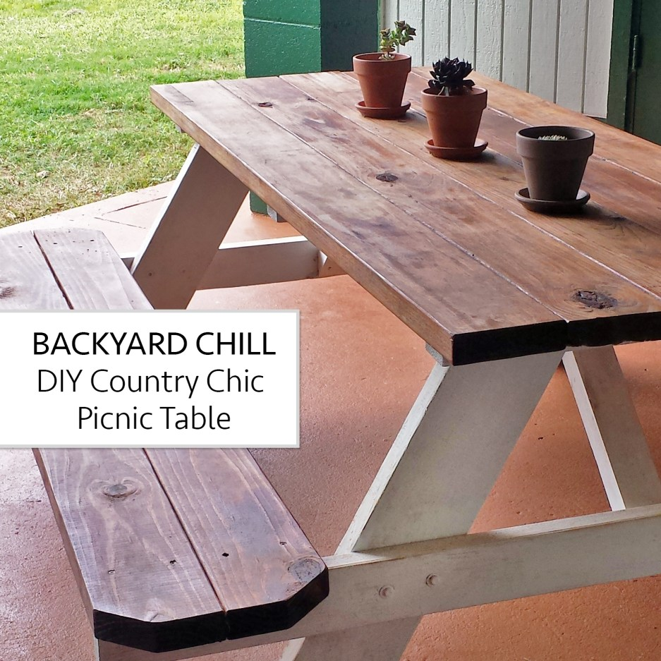 diy picnic table country chic aloha lovely
