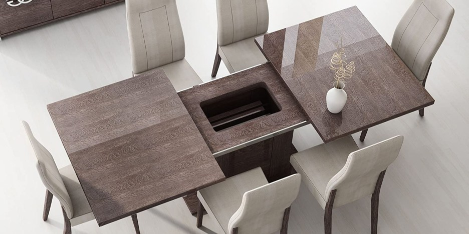 esf prestige high gloss wenge lacquer dining