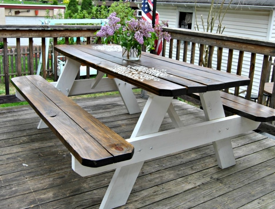 farmhouse picnic table the painted home denise sabia