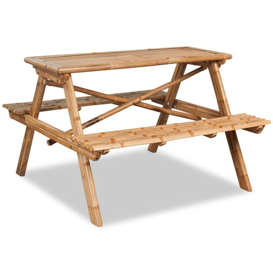 festnight picnic table garden bench table for outdoor patio
