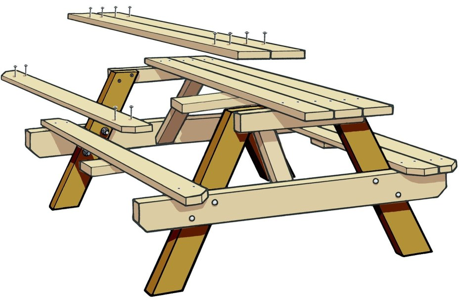how to build a classic picnic table with benches this old