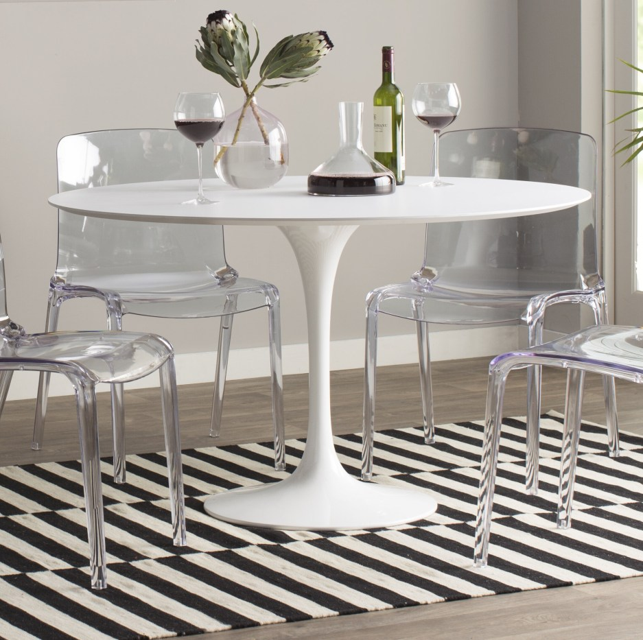 lucy matte lacquer dining table