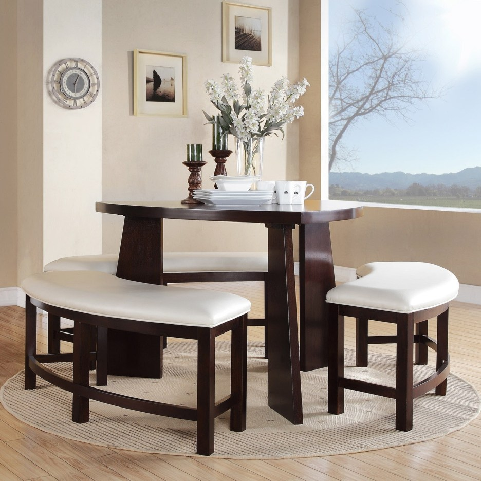 paradise merlot triangle shaped 4 piece dining set inspire q bold