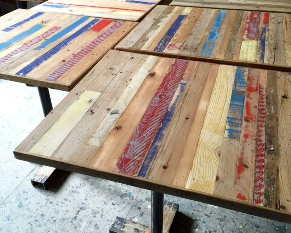 recycled wood table tops eco friendly furniture inside