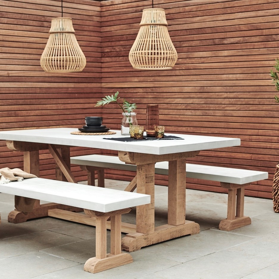 st emilion oak concrete indooroutdoor dining table