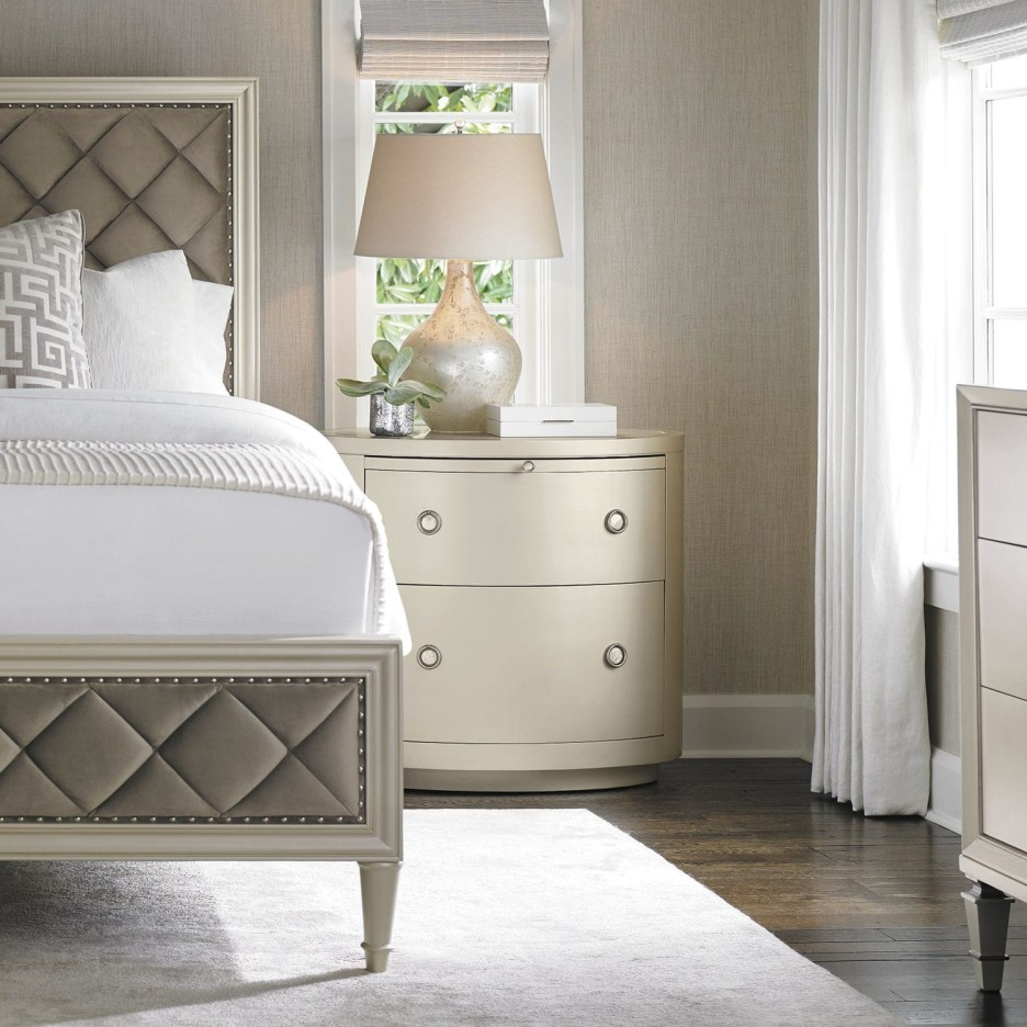 traditional bedside table caracole classic pearl drop