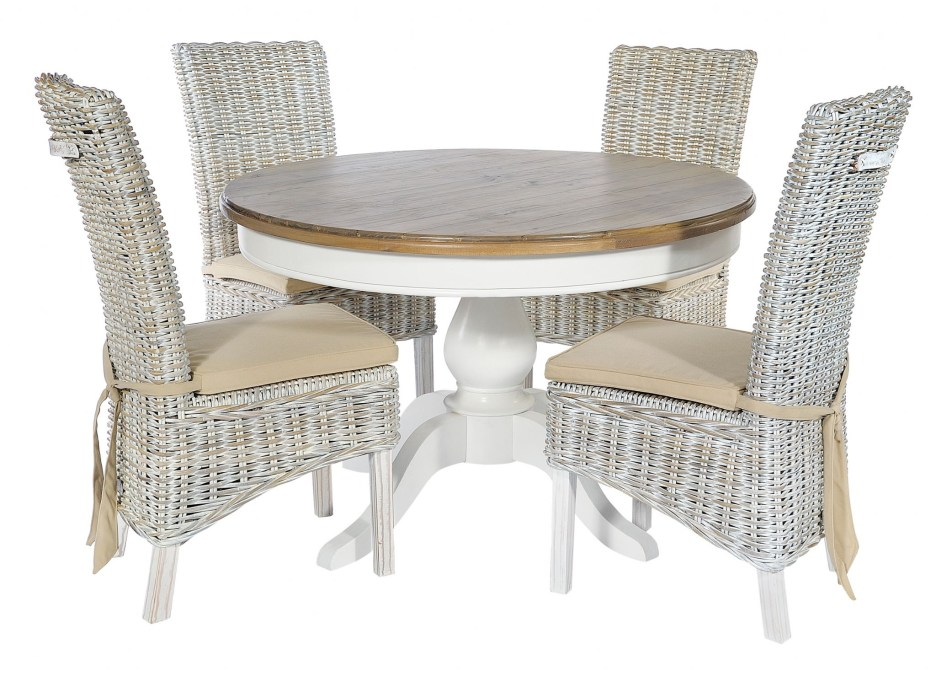 atlantic white wash rattan dining chairs pair special