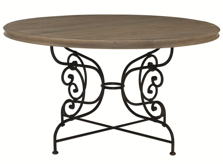 bernhardt auberge round dining table with decorative solid
