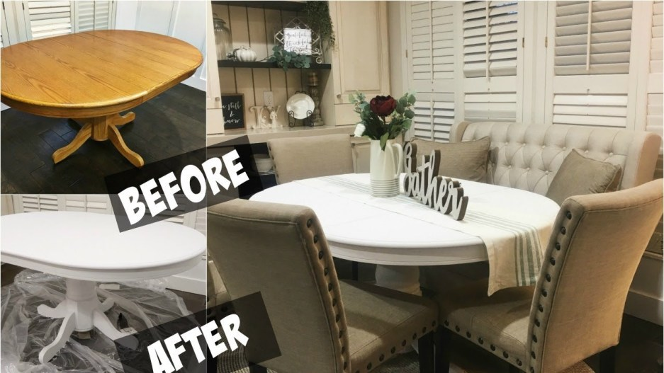 diy chalk paint dining room table