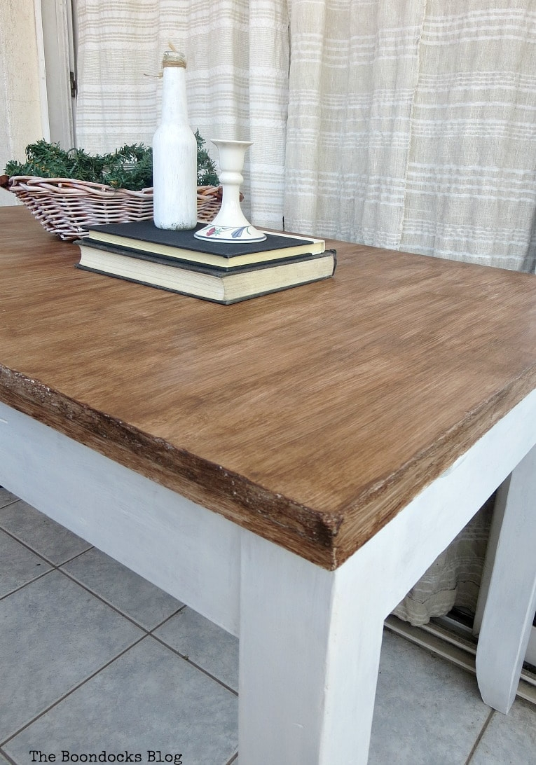 how to save an old laminate table with gel stain the