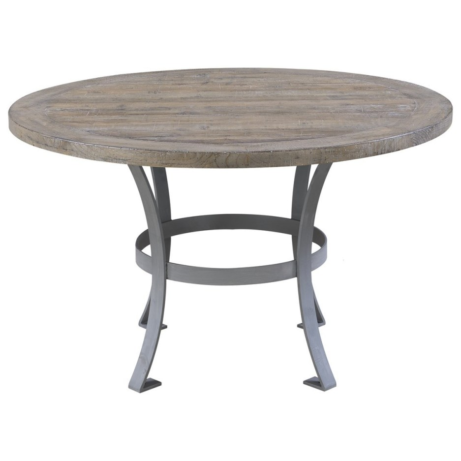 interlude round dining table with metal base