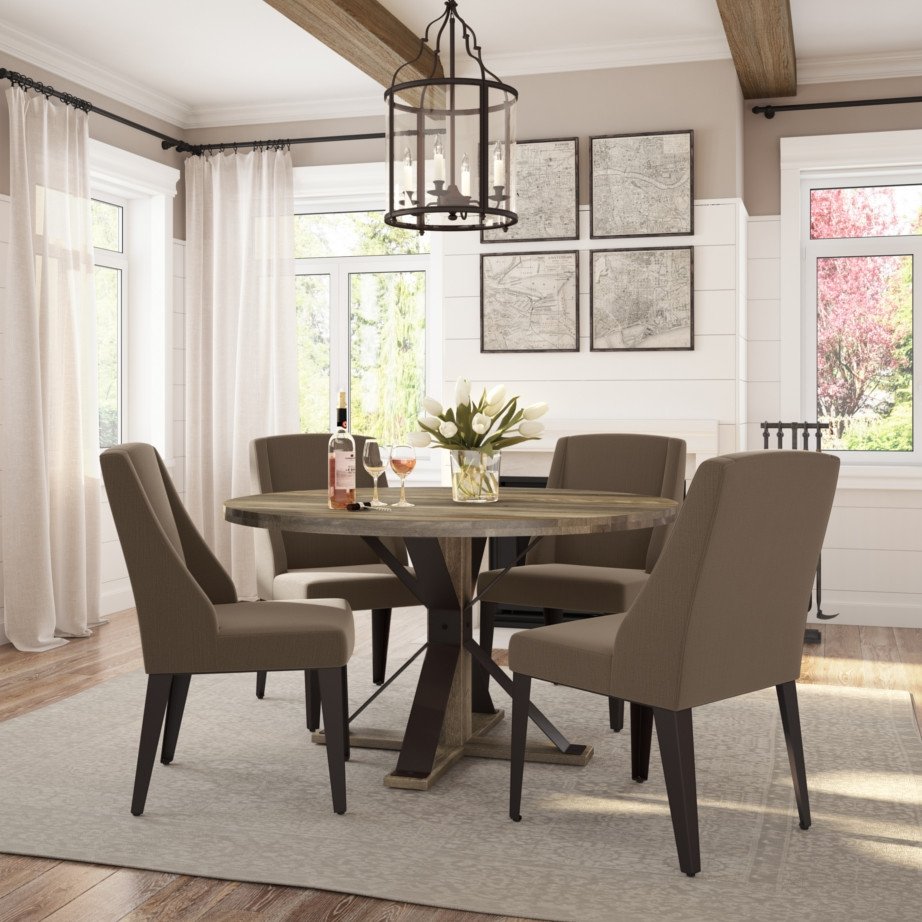 martina round dining table solid wood rustic tables i home