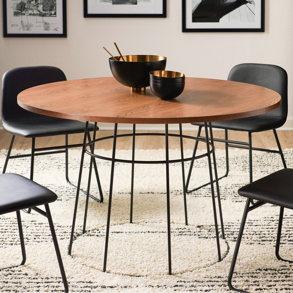 modrn industrial griffin round dining table walmarts got