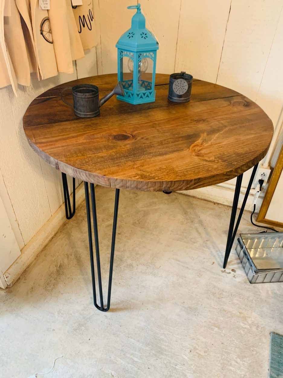 small farmhouse nook dining table industrial style