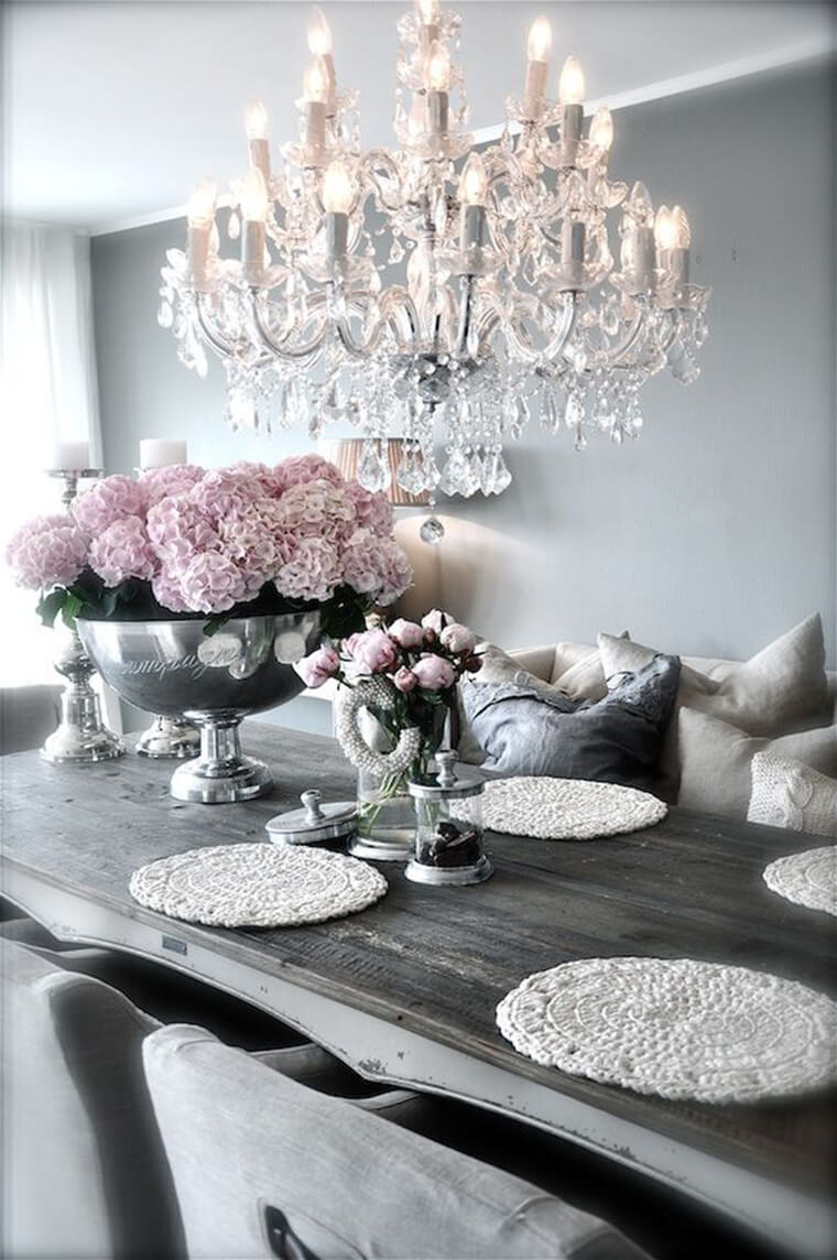 Rustic Glam Decorations ideas Dining Table Design