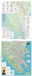 Marin Bike Map 35 inch