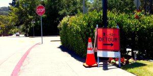 Ross Detour Signage in Kentfield