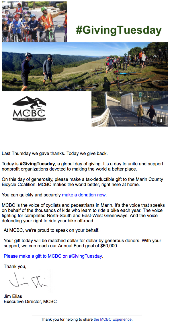 MCBC Annual Fund #Giving Tuesday