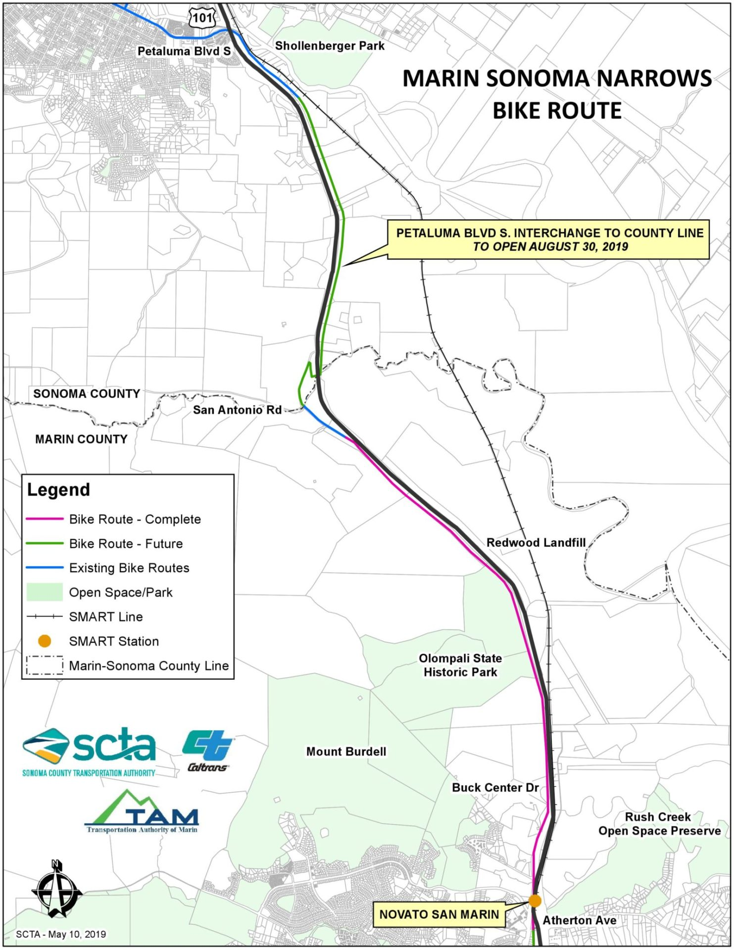 New Novato-Petaluma Route Now Open | MCBC on modot traffic map, txdot traffic map, san francisco traffic map, faa traffic map, ohio dot traffic map, seattle traffic map, wsdot traffic map,