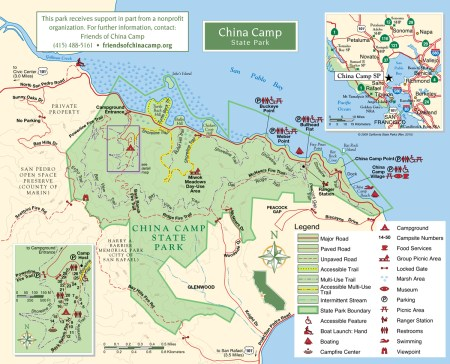 china camp state park map Guest Post Marin S Hiker Biker Sites The Perfect Introduction To china camp state park map