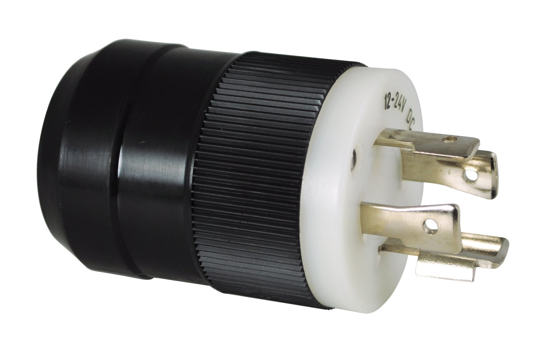 4Wire 1224V Trolling Motor Plug, Black | Marinco