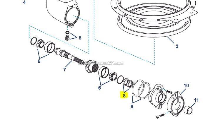 Simmerring / Dichtring für Volvo Penta unten MD3593663