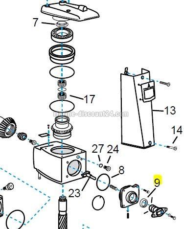 Simmerring / Dichtring für Volvo Penta Schaltklaue MD853868