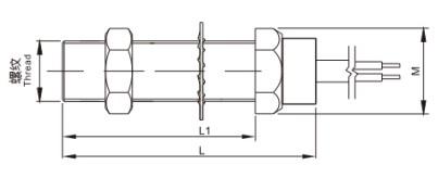 Tacho sensor M16x1.5 mm, 100/80 mm længde