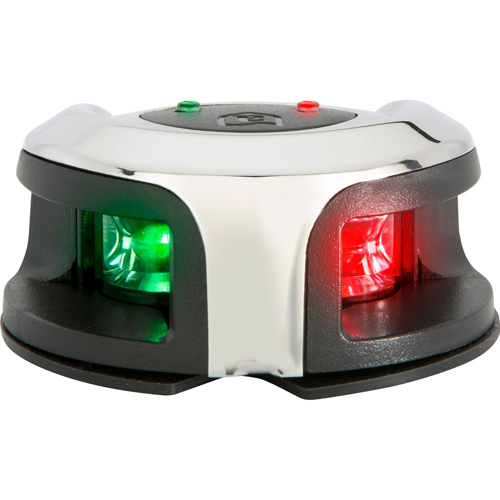 hight resolution of attwood marine attwood lightarmor bow mount navigation light stainless steel bi color 2nm 11 69827