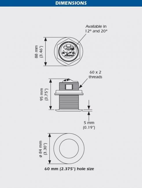 Garmin Pohjanläpianturi, teräs 50/200 kHz 8-pin