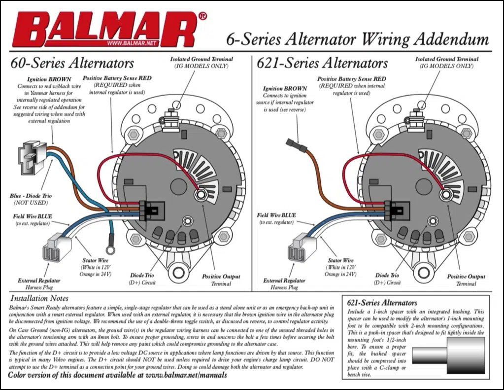 hight resolution of balmar alternator wiring diagram data wiring diagram today one wire alternator installation balmar alternator wiring diagram