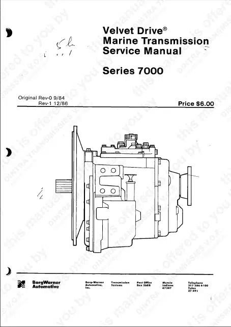 Borg Warner Velvet Drive 7000 Series Marine Transmission