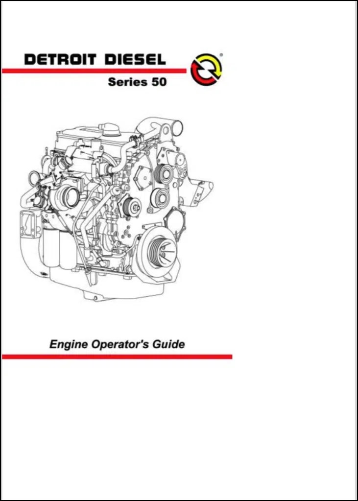 Detroit Diesel Series 50 diesel engine Operator's Guide
